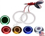 New All Size Super Bright COB LED Halo Ring Angel Eyes Led Car Headlight With Crystal Cover 12V DC