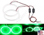 New Green Size 70mm Super Bright 60SMD COB LED Halo Ring Angel Eyes Led Car Headlight 12V DC