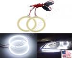 New White Size 70mm Super Bright 60SMD COB LED Halo Ring Angel Eyes Led Car Headlight 12V DC