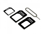 4 In 1 Noosy Micro SIM Adapter w/ nano Adapter and Eject Pin For HTC Samsung LG Motorola Sony Nexus Iphone 10 x 8 7s 6 6s5 4 4S With SIM Card Retail Box